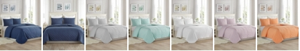 Cathay Home Inc. Super Soft Dot Embroidery Quilt Set - Full/Queen
