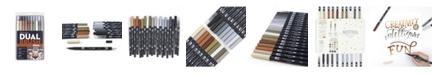 Tombow Dual Brush Pen Art Markers, Neutral Palette, 20-Pack
