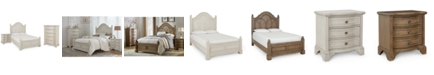 Furniture Jasper County Panel Bedroom Collection 3-Pc. Set (California King Bed, Nightstand & Chest)