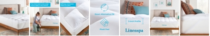 "Linenspa 3"" Down Alternative Fiber Bed Mattress Topper, Twin"