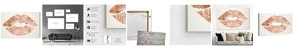 "Oliver Gal Solid Kiss Copper Canvas Art, 45"" x 30"""
