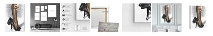 "Oliver Gal Black Satin Canvas Art, 30"" x 45"""