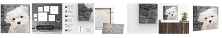 "Oliver Gal Love My Maltese Canvas Art, 16"" x 16"""