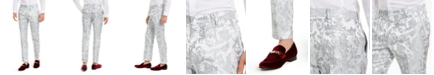 INC International Concepts INC Men's Slim-Fit Embroidered Floral Jacquard Suit Pants, Created For Macy's