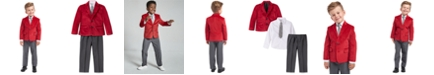Nautica Toddler Boys Regular-Fit 4-Pc. Red Velvet Suit Set