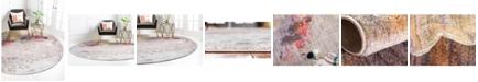 Jill Zarin Nolita Downtown Jzd007 Multi 8' x 8' Round Rug