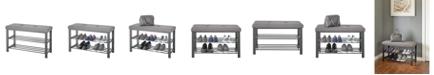 Neatfreak Fabric Upholstered Shoe Storage Bench