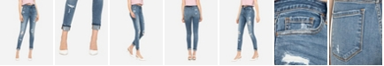 VERVET Women's High Rise Distressed Skinny Ankle Jeans