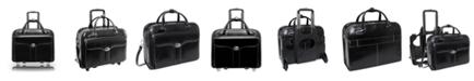 "McKlein Berkeley 15.4"" Top Grain Cowhide Leather  Patented Detachable -Wheeled Ladies' Briefcase"