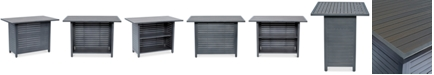 """Furniture CLOSEOUT! Marlough Aluminum 52"""" x 32"""" Outdoor Bar Table, Created for Macy's"""