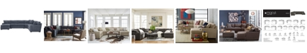 Furniture Radley 5-Piece Fabric Chaise Sectional Sofa - Custom Colors, Created for Macy's