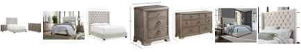 Furniture Monroe Upholstered Bedroom Furniture, 3-Pc. Set (Full Bed, Nightstand, & Dresser), Created for Macy's
