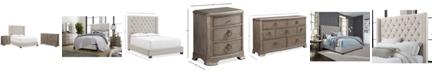 Furniture Monroe Upholstered Bedroom Furniture, 3-Pc. Set (King Bed, Nightstand, & Dresser), Created for Macy's