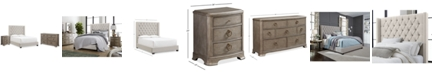 Furniture Monroe Upholstered Bedroom Furniture, 3-Pc. Set (California King Bed, Nightstand, & Dresser), Created for Macy's
