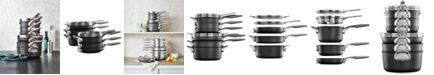 Calphalon Premier 10-Pc. Space-Saving Hard Anodized Non-Stick Cookware Set, Created for Macy's