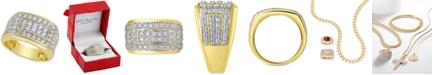 Macy's Men's Diamond Cluster Ring (2 ct. t.w.) in 10k Gold