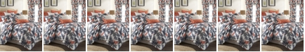 Colcha Linens Flamingo Palms Duvet Cover Set-Full