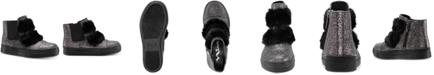 Nina Helen Hi-Top Sneaker with Faux-Fur Trim, Toddler, Little & Big Girls