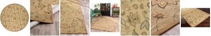 Surya Rain RAI-1011 Khaki 8' Round Area Rug, Indoor/Outdoor