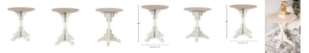 """Rosemary Lane Traditional 30"""" x 26"""" Round Wood Accent Table"""