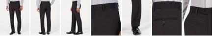 Perry Ellis Men's Portfolio Slim-Fit Stretch Black Solid Suit Pants