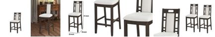 Benzara Wooden Armless High Chair, Set of 2