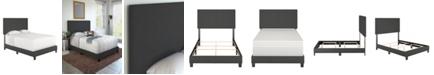 Ultima Morganford Twin Size Upholstered Linen Padded Platform Bed Frame