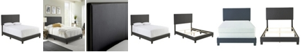 Ultima Carson Queen Faux Leather Upholstered Platform Bed Frame