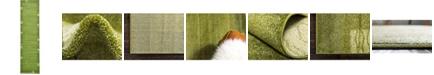 "Bridgeport Home Lyon Lyo1 Green 2' 7"" x 10' Runner Area Rug"
