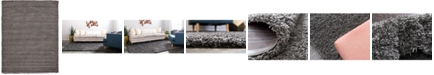Bridgeport Home Exact Shag Exs1 Graphite Gray 9' x 12' Area Rug