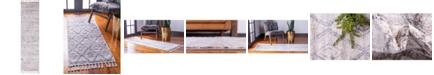 """Bridgeport Home Levia Lev2 Beige/Gray 3' 6"""" x 13' Runner Area Rug"""