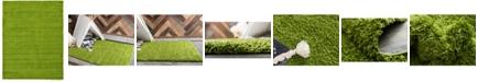 Bridgeport Home Exact Shag Exs1 Grass Green 8' x 11' Area Rug