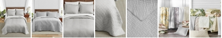 Tommy Bahama Home Tommy Bahama Solid Pelican Grey Quilt Set, Twin