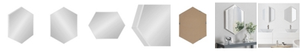 """Kate and Laurel Rhodes Framed Hexagon Wall Mirror - 31"""" x 22"""""""