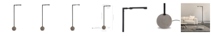 Hudson & Canal Dinodas Floor Lamp In Concrete And Blackened Bronze