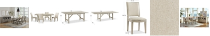 Furniture Parker Dining Furniture, 5-Pc. set (Table & 4 Side Chairs), Created for Macy's