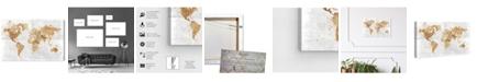 "Oliver Gal Mapamundi on the Rocks Canvas Art, 24"" x 16"""
