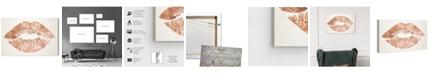 "Oliver Gal Solid Kiss Copper Canvas Art, 24"" x 16"""