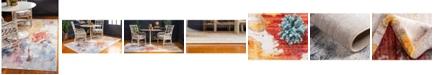 Jill Zarin West Village Downtown Jzd002 Multi 4' x 6' Area Rug