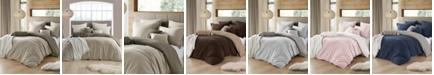 Cathay Home Inc. Ultra Soft Reversible Crinkle Duvet Cover Set - King/Cal King