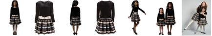 Bonnie Jean Big Girls Velvet Striped Dress