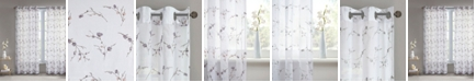 """Madison Park Meredith 50"""" x 95"""" Floral Embroidered Sheer Curtain Panel"""