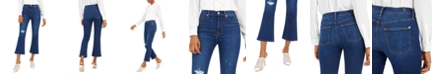 7 For All Mankind High-Rise Ripped Slim-Kick Jeans