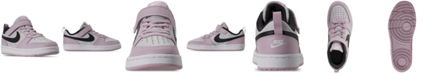 Nike Little Girls Court Borough Low 2 Stay-Put Closure Casual Sneakers from Finish Line