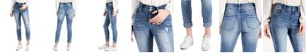 Indigo Rein Ripped Cuffed Skinny Jeans