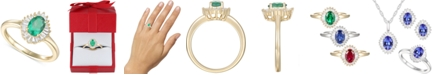 Macy's Emerald (3/4ct. t.w.) & Diamond (1/4 ct. t.w.) Ring in 14k Gold (Also Available in Sapphire, Tanzanite & Ruby)