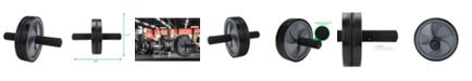 Mind Reader Dual Wheel Split Ab Roller for Home