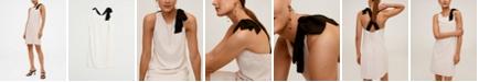 MANGO Women's Contrast Detail Dress