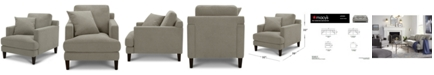 "Furniture Lexah 32"" Fabric Chair, Created for Macy's"