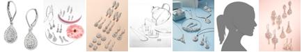 Wrapped in Love Diamond Teardrop Earrings in 14k White Gold (1/2 ct. t.w.), Created for Macy's